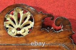 Miroir en bois doré sculpté meuble italien cadre stile ancien 900 XX antiquité