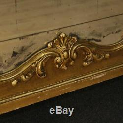 Miroir italienne meuble miroir cadre en bois plâtre d'or style ancien