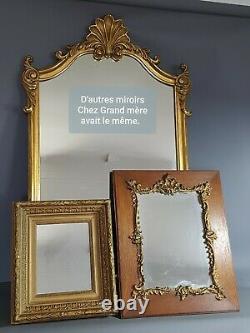 Miroir ovale cadre ancien bois dorure origine 55x44 cm Bel état SBB
