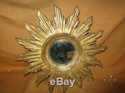 Miroir soleil ancien / cadre en bois doré