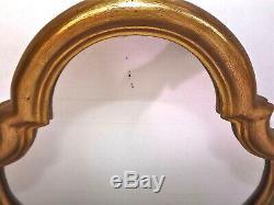 Miroir style Louis XV. Cadre bois doré. Vintage 1940's. H 49 cm. L 35 cm