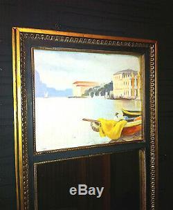 Miroir trumeau peinture venise tableau deco cadre or 1950 19eme peintre deco