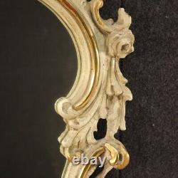 Miroir vénitien meuble verre cadre en bois doré style ancien 900