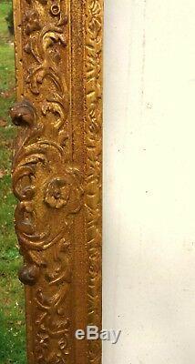 N° 450 Cadre Epoque Louis XV bois doré XVIIIème siècle pour table77 x 64,5 cm