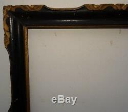 N° 476 Cadre en Bois sculpté doré noirci XVIIIème siècle pour chassis 60 x 46 cm