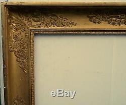 N° 480 CADRE Empire Restauration Bois doré XIXème pour chassis 73,8 x 60,3 cm