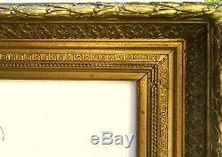 N° 492 CADRE Epoque XIXème bois et stuc doré pour chassis 73,5 x 60,5 cm