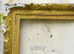 N°503 Cadre en bois doré époque XVIIIème siècle chassis 82 x 65,5 cm