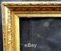 N° 550 CADRE Barbizon XIXème bois et stuc doré pour chassis 101,5 x 73,5 cm