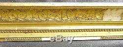 N° 586 CADRE Restauration Bois doré XIXème pour chassis 72 x 58 cm