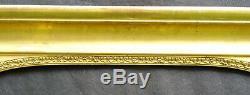 N° 651 CADRE Epoque XIXème bois et stuc doré pour chassis 95 x 83 cm