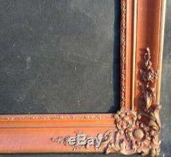 N° 662 CADRE Restauration Bois doré XIXème pour chassis 82,4 x 66,4 cm