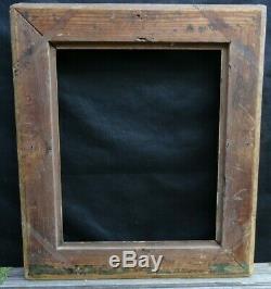 N° 672 CADRE à Canaux XIXème bois doré à la feuille pour chassis 47,3 x 39, cm