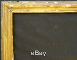 N° 680 CADRE XVIIIème bois sculpté doré feuille pour chassis 74 x 57 cm