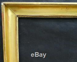 N° 688 CADRE Restauration Bois doré XIXème pour chassis 74 x 60.5 cm