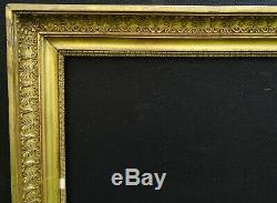 N° 701 CADRE Epoque XIXème bois et stuc doré pour chassis 66 x 55 cm