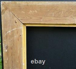 N° 704 Cadre bois et stuc doré XIXème siècle pour chassis tableau 65,5 x 54 cm