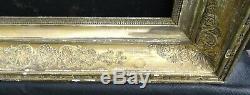 N° 725 CADRE Empire début XIXème bois et stuc doré pour chassis 57,3 x 42,7 cm