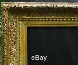 N° 727 Grand CADRE Epoque XIXème bois et stuc doré pour châssis 74,8 x 60,8 cm