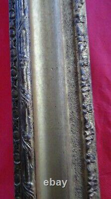 N° 754 CADRE Epoque XIXème bois et stuc doré pour châssis 100,8 x 83,4 cm