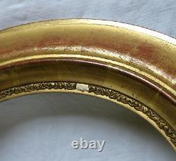 PAIRE de CADRES BOIS DORÉ, cadre ancien, cadre ovale bois doré, cadre bois doré