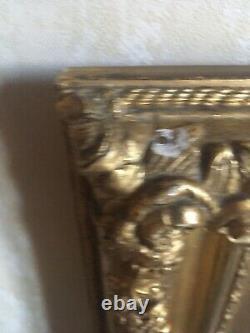 Paire de Cadres en Bois Dorés à la Feuille d'Or, Médaillons porcelaine Sèvres