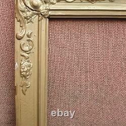 Paire de cadres de style Restauration XIXe siècle feuillures 62 x 46,5 cm