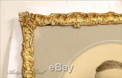 Paire de cadres en bois stuqué doré Napoléon III 19e