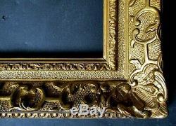 Petit CADRE pour tableau peinture XIXe assemblé par clés style LOUIS XIV Berain