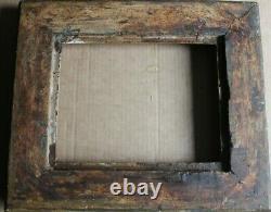 Petit cadre ancien 25cm x 20cm XIXème Bois Stuc doré