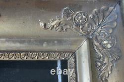 Petit cadre empire ancien 23cm x 19cm XIXème Bois Stuc sculpté et doré n°II