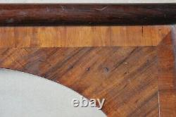 Petit cadre ovale 19cm x 14,5cm Bois en marqueterie