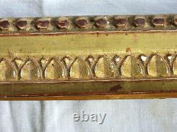 RARE CADRE, bois sculpté et doré, feuille d'or, époque LOUIS XVI, fin du 18ème