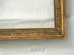 RARE CADRE en bois doré d'époque DIRECTOIRE, feuille d'or, fin du 18ème siècle