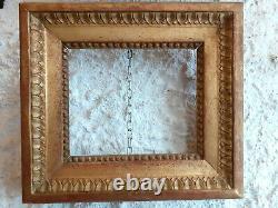 RARE CADRE en bois sculpté et doré, feuille d'or, époque LOUIS XVI, 18ème
