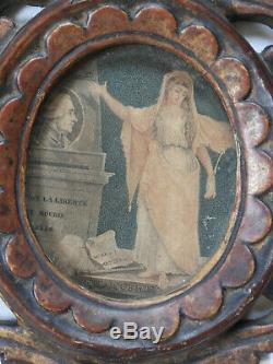 RARE PAIRE DE CADRES en bois sculpté et doré, époque LOUIS XVI, fin du 18ème