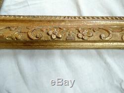 RARISSIME et GRAND CADRE, bois sculpté et doré, monté à clefs, LOUIS XIV, 17ème