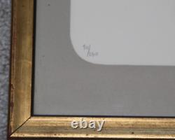 Rare Lithographie Léonor Fini cats 12 CHATS signée 90/230 cadre bois doré 1970