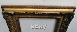 Rare ancien petit CADRE XIXe assemblé par clés style LOUIS XIV Berain