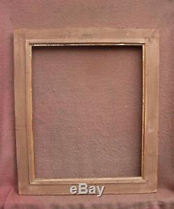 Rare cadre MONTPARNASSE en bois doré à la feuille feuillure 61,3 x 50,3 cm