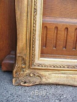 Rare cadre MONTPARNASSE en bois sculpté doré à la feuille format 15F