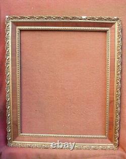 Rare et important cadre Napoléon III feuillure 70 x 58 cm