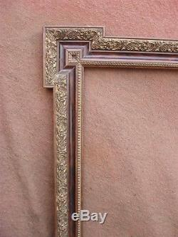 Rare paire de grands cadres laqués époque Napoléon III feuillure 59 x 46 cm