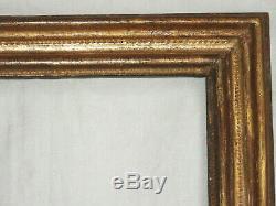 Remarquable CADRE en bois doré, époque LOUIS XV, décors à la molette, début 18è