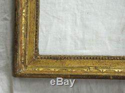 Remarquable CADRE en bois sculpté et doré, époque LOUIS XVI, deuxième moitié 18è