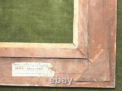 SUBLIME CADRE en bois sculpté, doré et patiné, modèle MONTPARNASSE, vers 1940