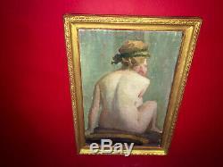 Scène de nu d'époque XIXe Cadre en bois doré