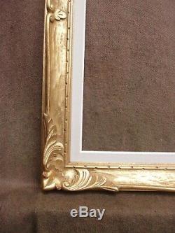 Somptueux cadre Montparnasse en bois doré de format 10F