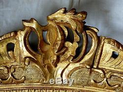 Sublime CADRE à FRONTON en bois sculpté et doré, époque REGENCE, début du 18ème