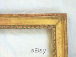 Sublime CADRE en bois sculpté et doré, époque LOUIS XVI, décors de perles, 18ème